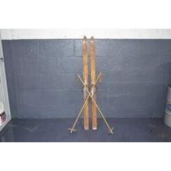 houten ski set